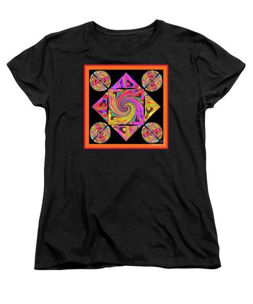 Women's T-Shirt (Standard Cut) featuring the digital art Mandala #50 by Loko Suederdiek