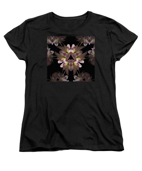 Women's T-Shirt (Standard Cut) featuring the digital art Mandala Amarylis by Nancy Griswold
