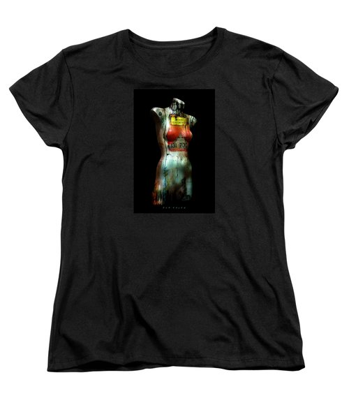 Mannequin Graffiti Women's T-Shirt (Standard Cut) by Kim Gauge