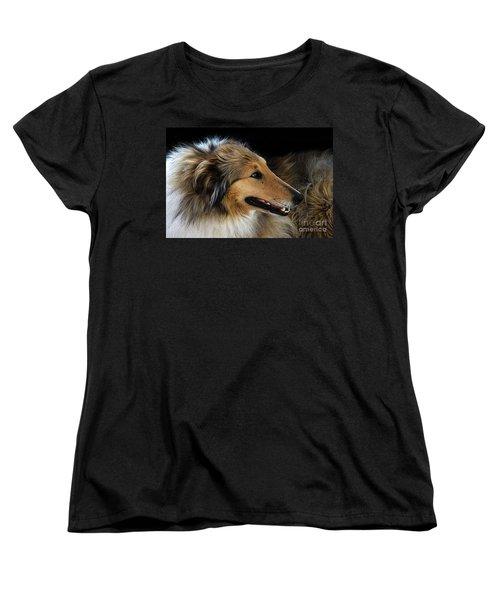 Women's T-Shirt (Standard Cut) featuring the photograph Man's Best Friend by Bob Christopher