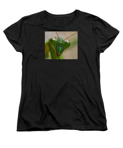 Mantis Face Women's T-Shirt (Standard Cut) by Jonny D