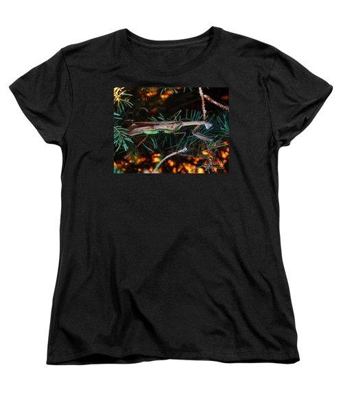 Women's T-Shirt (Standard Cut) featuring the photograph Mantis  by J L Zarek