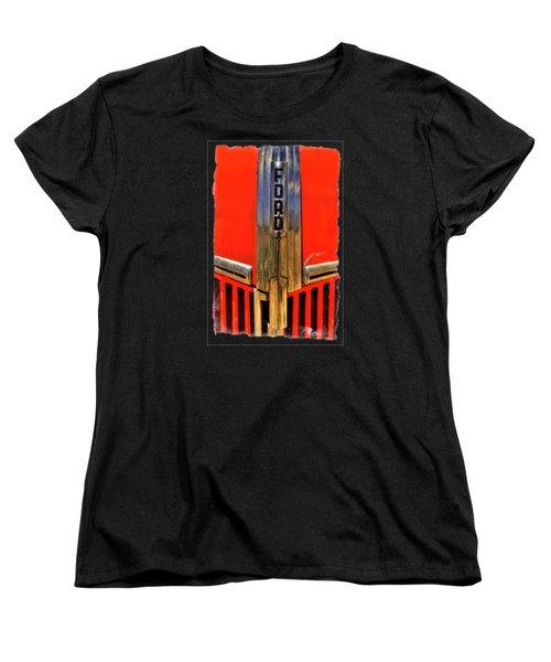 Manzanar Fire Truck Hood And Grill Detail Women's T-Shirt (Standard Cut) by Roger Passman