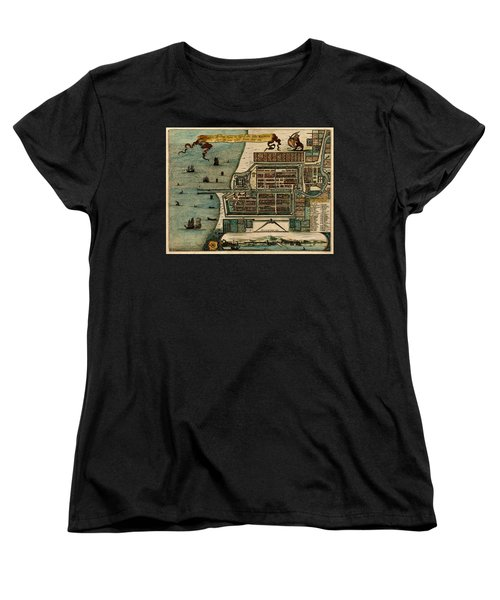 Map Of Java 1669 Women's T-Shirt (Standard Cut) by Andrew Fare