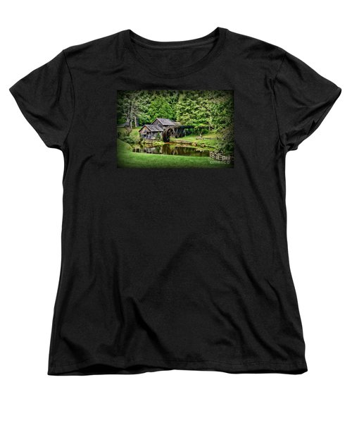 Women's T-Shirt (Standard Cut) featuring the photograph Marby Mill Landscape by Paul Ward