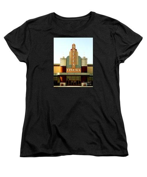 Women's T-Shirt (Standard Cut) featuring the photograph Marcus Renaissance Cinema, Racine Wisconsin  by Ricky L Jones