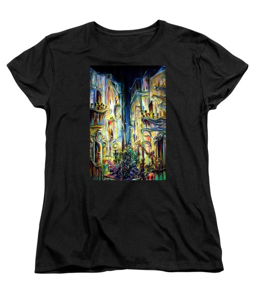 Women's T-Shirt (Standard Cut) featuring the painting Mardi Gras by Heather Calderon