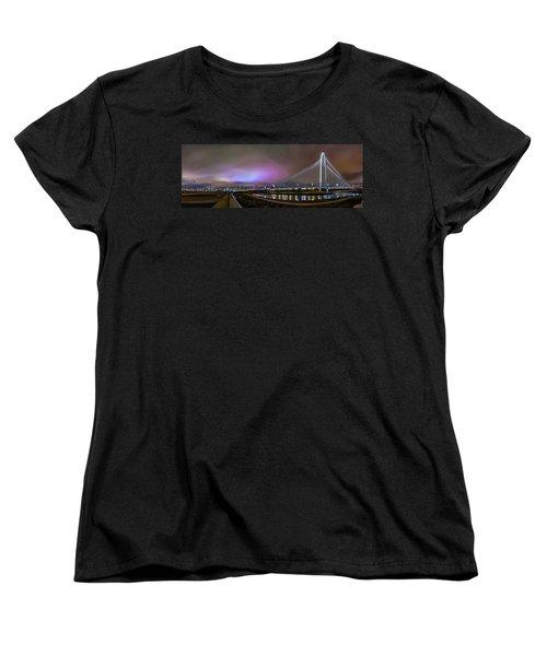 Margaret Hunt Hill Bridge - Dallas Texas Women's T-Shirt (Standard Cut) by Micah Goff