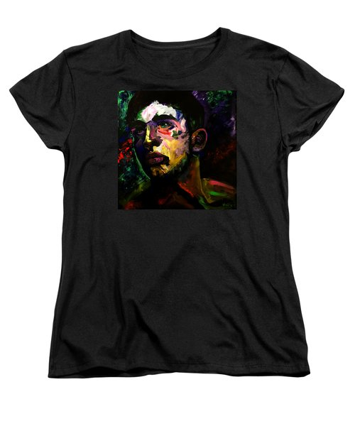 Women's T-Shirt (Standard Cut) featuring the painting Mark Webster Artist - Dave C. 0410 by Mark Webster Artist
