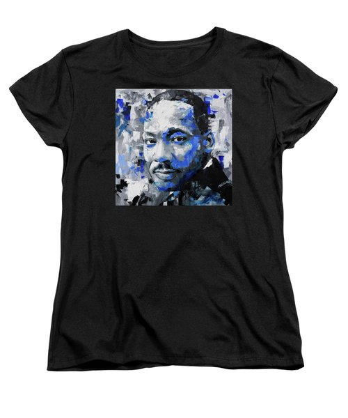 Women's T-Shirt (Standard Cut) featuring the painting Martin Luther King Jr by Richard Day