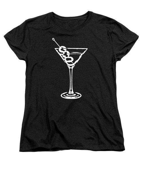 Martini Glass Tee White Women's T-Shirt (Standard Cut) by Edward Fielding