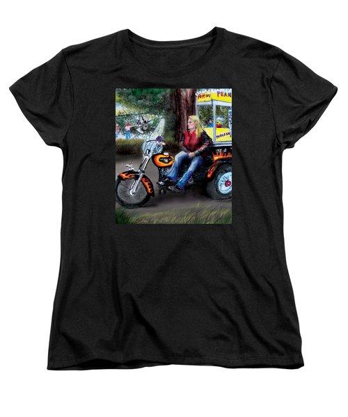Marty's Harley Women's T-Shirt (Standard Cut) by Albert Puskaric