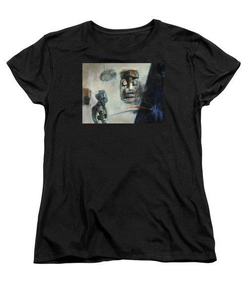 Symbol Mask Painting -02 Women's T-Shirt (Standard Cut) by Behzad Sohrabi