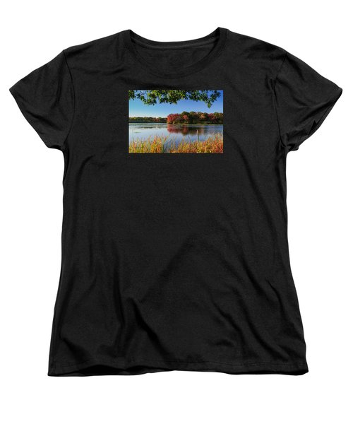 Women's T-Shirt (Standard Cut) featuring the photograph Massapequa Nature Preserve by Jose Oquendo