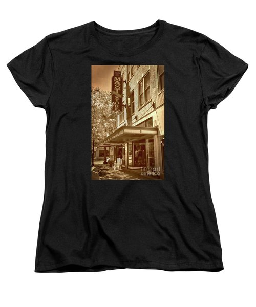 Women's T-Shirt (Standard Cut) featuring the photograph Mast General Store by Skip Willits