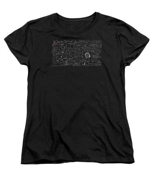 Women's T-Shirt (Standard Cut) featuring the digital art Maths Formula by Setsiri Silapasuwanchai