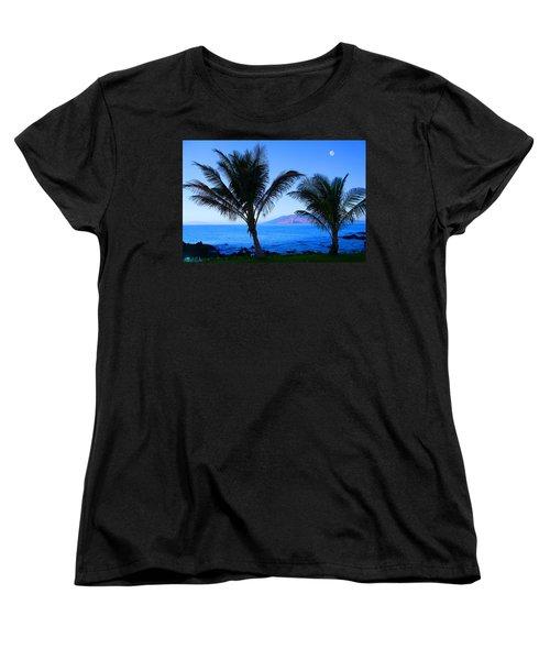 Maui Coastline Women's T-Shirt (Standard Cut) by Michael Rucker
