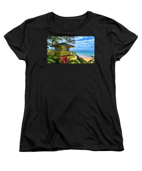 Maui Kamaole Beach Women's T-Shirt (Standard Cut) by Michael Rucker