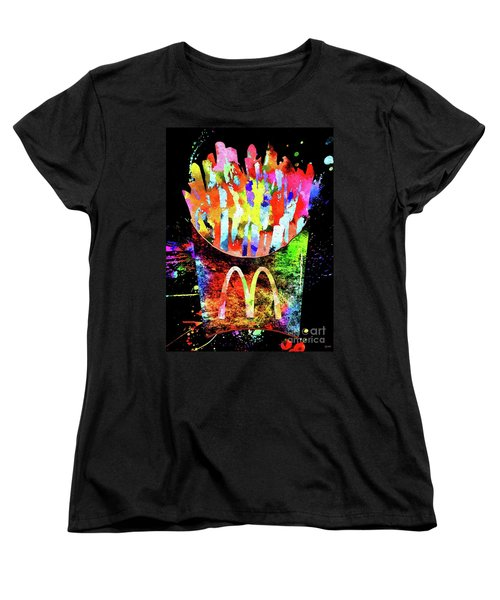 Mcdonald's French Fries Grunge Women's T-Shirt (Standard Cut)
