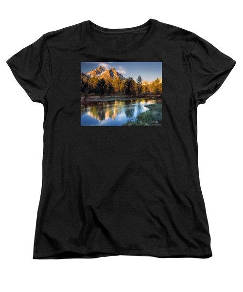 Mcgown Peak Sunrise  Women's T-Shirt (Standard Cut) by Leland D Howard