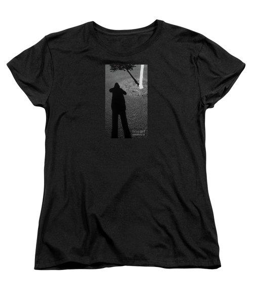 Me And My Shadow Women's T-Shirt (Standard Cut) by Nareeta Martin