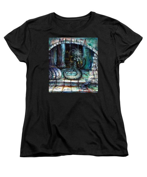 Women's T-Shirt (Standard Cut) featuring the painting Medusa by Heather Calderon