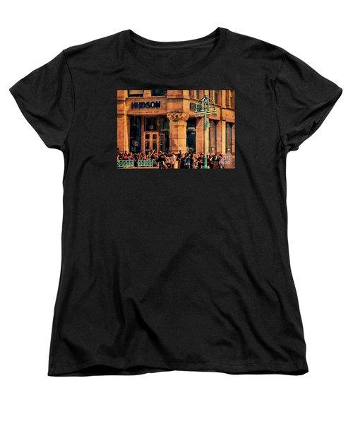 Meet You At Hudson's Women's T-Shirt (Standard Cut) by David Blank