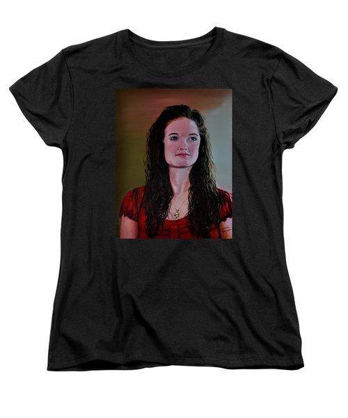 Megan At Eighteen Women's T-Shirt (Standard Cut) by Stan Hamilton