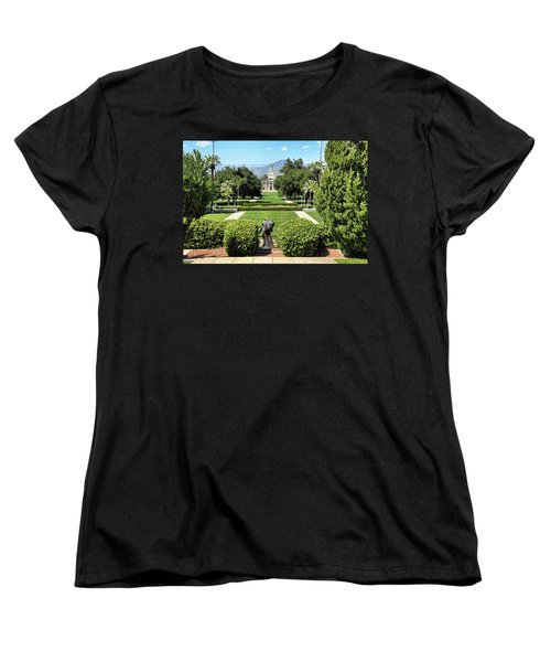 Memorial Chapel University Of Redlands Women's T-Shirt (Standard Cut) by Mariola Bitner
