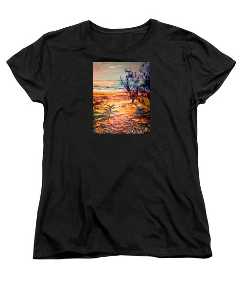 Women's T-Shirt (Standard Cut) featuring the painting Memory Pandanus by Winsome Gunning