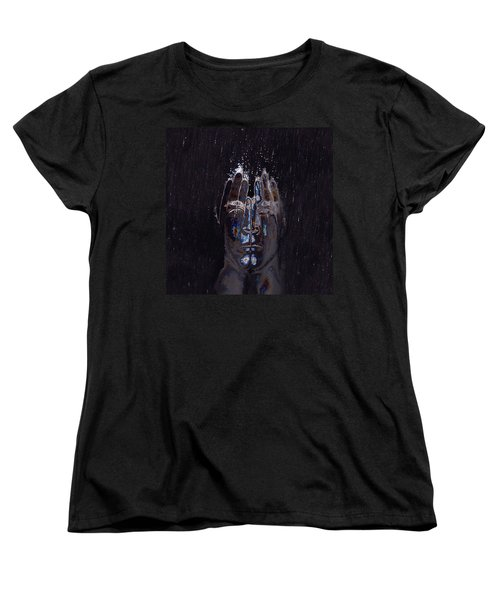 Men Are From Mars Silver Women's T-Shirt (Standard Cut) by ISAW Gallery