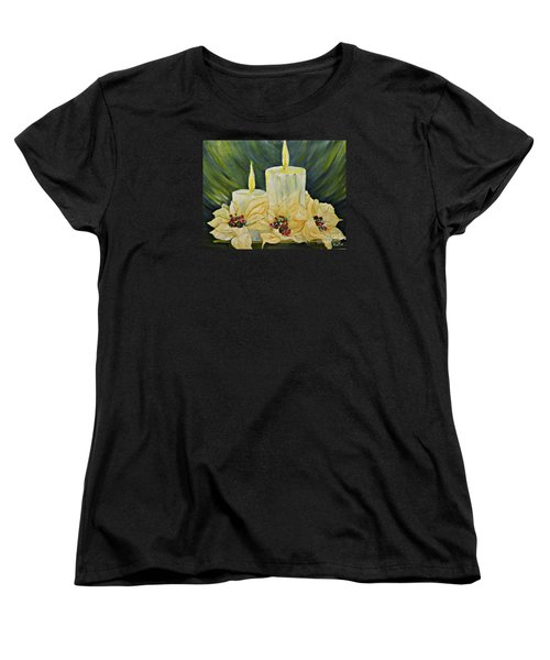Our Lady And Child Jesus Women's T-Shirt (Standard Cut) by AmaS Art