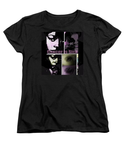 Message For All Women's T-Shirt (Standard Cut) by Fania Simon