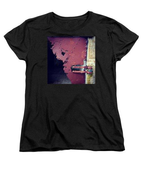 Metal Door Ode To Sam Women's T-Shirt (Standard Cut) by Suzanne Lorenz