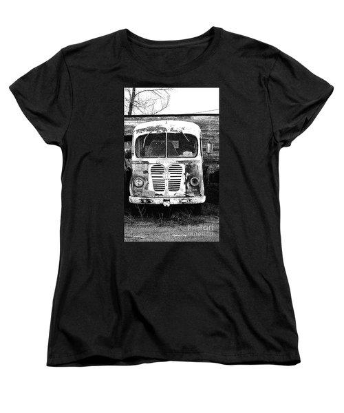 Metro Black And White Women's T-Shirt (Standard Cut) by Renie Rutten