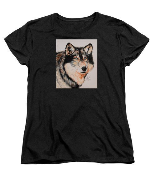 Mexican Wolf Hybrid Women's T-Shirt (Standard Cut) by Cheryl Poland