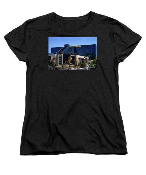 Mgm Grand Hotel Casino Women's T-Shirt (Standard Cut) by Mariola Bitner