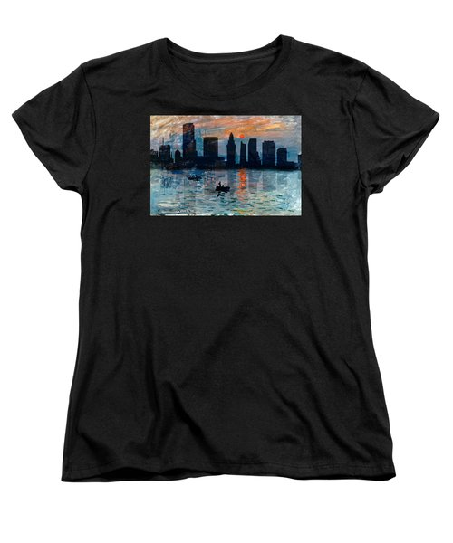 Miami Skyline 7 Women's T-Shirt (Standard Cut) by Andrew Fare