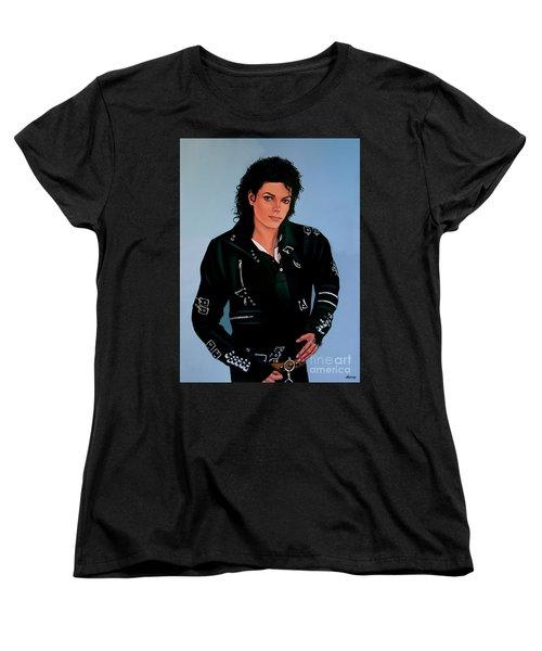 Michael Jackson Bad Women's T-Shirt (Standard Cut) by Paul Meijering