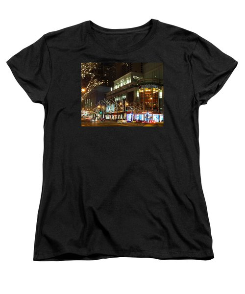 Women's T-Shirt (Standard Cut) featuring the photograph Michigan Avenue  by Elizabeth Coats