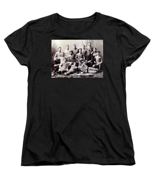 Michigan Wolverine Football Heritage 1890 Women's T-Shirt (Standard Cut) by Daniel Hagerman