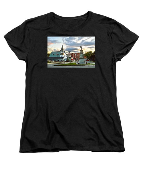 Middlebury Vermont At Sunset Women's T-Shirt (Standard Cut) by Catherine Sherman