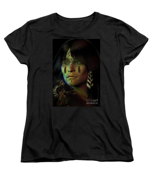 Women's T-Shirt (Standard Cut) featuring the digital art Midnight Dreaming by Shadowlea Is