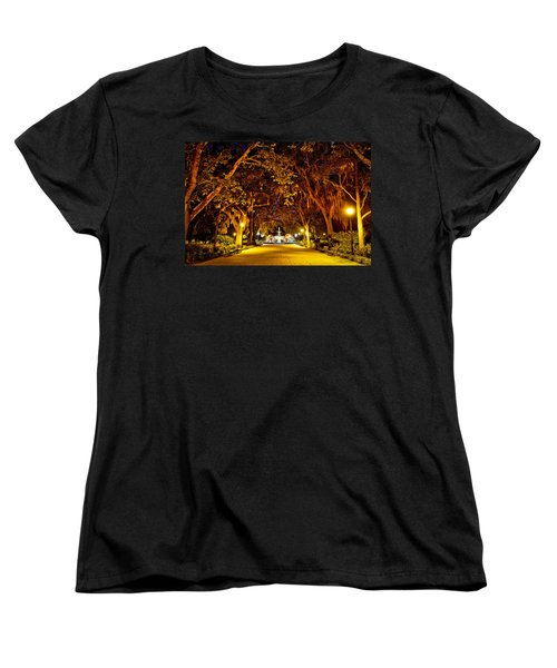 Midnight In The Garden Women's T-Shirt (Standard Cut) by Renee Sullivan