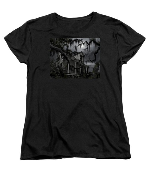 Midnight In The House Women's T-Shirt (Standard Cut) by James Christopher Hill