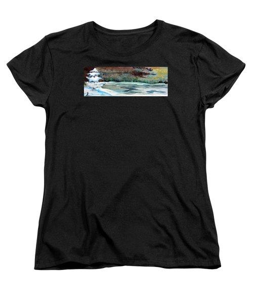 Midnight Rider Women's T-Shirt (Standard Cut) by Mindy Newman