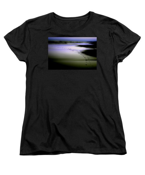Women's T-Shirt (Standard Cut) featuring the photograph Midnight Swim by Gray  Artus