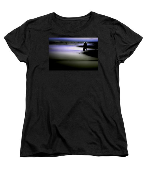 Women's T-Shirt (Standard Cut) featuring the photograph Midnight Wanderer by Gray  Artus
