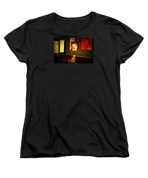 Women's T-Shirt (Standard Cut) featuring the painting Midnight With Pablo by Bill OConnor