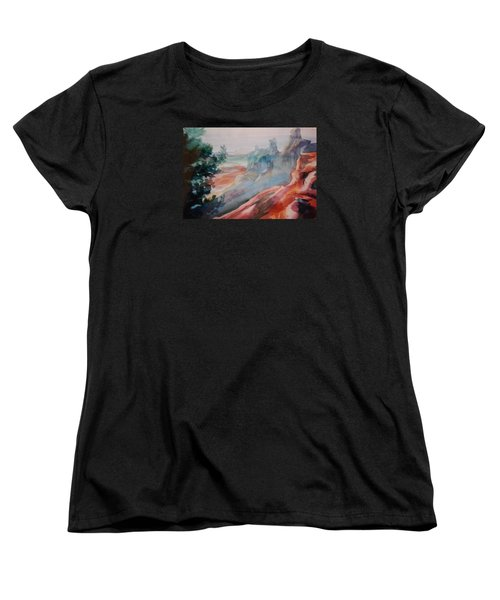 Mighty Canyon Women's T-Shirt (Standard Cut) by Becky Chappell